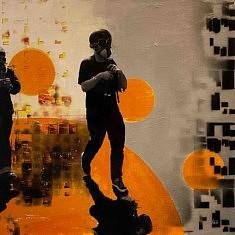 Série : URDA, acrylique sur toile, 100x100cm, 2017