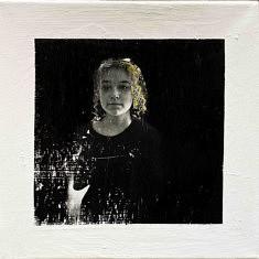 Série Empreintes EM10 - Portrait, technique mixte sur toile, 40x40cm, 2020