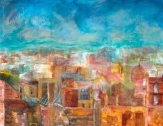 """""""les toits de Séville"""" Acrylique - 2008  146x112 cm"""