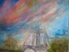 "SERIE ""Le ciel de Paris"" Technique mixte    2011      60x72 cm"