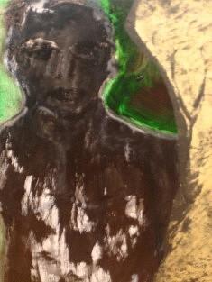 """""""Métamorphose"""" Encre, collage 2007                          42x56 cm"""
