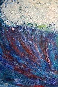 """SERIE """"VAGUES"""" technique mixte sur toile - 2017   50x100 cm"""