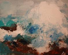 """SERIE """"VAGUES"""" technique mixte sur toile - 2015   82X65 cm"""