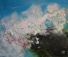 """SERIE """"Vagues"""" technique mixte sur toile - 2015   55x46 cm"""