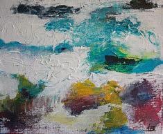 """SERIE """"Vagues"""" technique mixte sur toile - 2016     55x46 cm"""