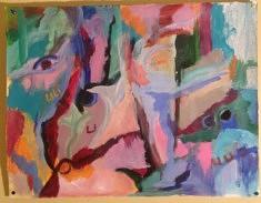 TROPIQUES Acrylique sur papier marouflé 68*52