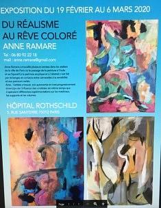 Du réalisme au rêve coloré  Hôpital Rotschild, 5 rue Santerre Paris  19 février - 6 mars 2020
