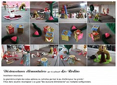 Déstrusctures élémentaires - installation textile par le collectif Les Rodins