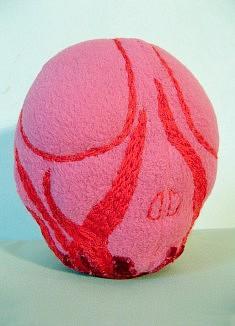 Pink Lady - textiles mixtes, fil de laine - env. 20 cm de haut - - - - - - - - - - -