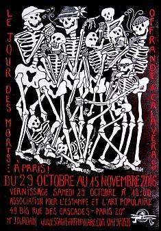 LE JOUR DES MORTS ... À PARIS !  du 29 octobre au 15 novembre 2016