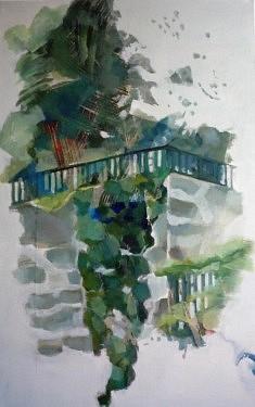 """Série """"danSer au parc"""", peinture sur toile, 116x73cm"""