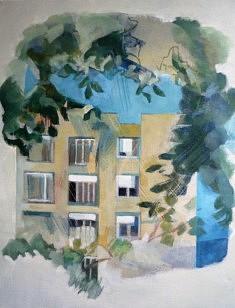 """Série """"danSer au parc"""", peinture sur toile, 100 x 80 cm"""