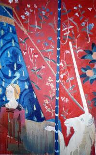 """A mon seul désir, la licorne"", 130x80cm"