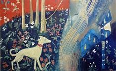 """""""A mon seul désir,le chien"""", peinture sur toile, 73x116cm"""