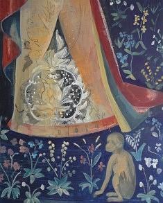 """Série """"A mon seul désir, le singe"""", d'après tapisserie """"La Dame à la Licorne."""