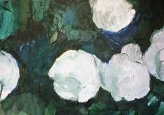 """Série """"mes fleurs5"""", peinture sur papier, 70x50 cm"""