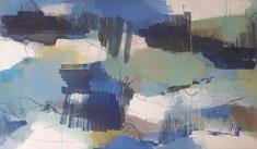 """""""Grande bleue"""" 114x195cm"""