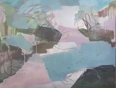 """""""Chant rosé-turquoise"""" 89x116 cm"""