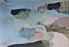 """Chant turquoise"" 89x130 cm"