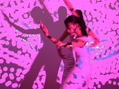Performance (tablette graph + videoprojo + danseuses) Hanoi VN (2010)