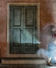 AUTOPORTRAIT- (série E'MOTION) - Tirage Photo Fine Art W. T. (310 gr), encre et acrylique, 30x25.