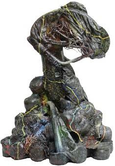 """""""Relief 412"""" Sculpture - Huile sur objets (60x45x34) 2004"""