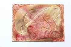 """""""Relief 143a"""" Pastel et gaufrage sur papier (14x19,5) 2014"""