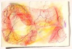 """""""Relief 1511a"""" Pastel et gaufrage sur papier (28x19-03) 2015"""