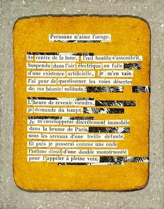 FRAGMENTS, 2019 - Tablette d'après La Chatte, Colette - J.Ferenczi et Fils éditeurs, 1935