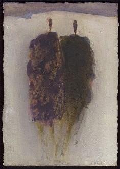Sans titre, à deux. Acrylique sur carton. 2013