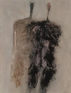 Sans titre, en couple. Acrylique sur papier. 2012