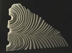 Au fil de l'eau… - Marbre de Macédoine – 31 x 50 x 0,8 cm