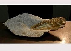 Frôleuse de soleil - Marbre : Jaune de Sienne – 61 x 34 x 11 cm