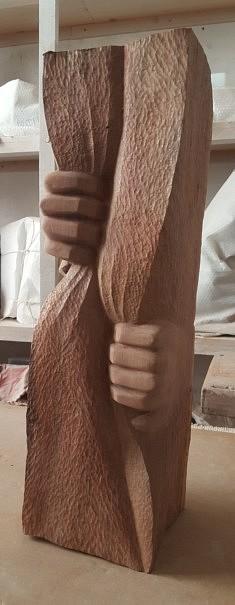 Dénouement- Bois – 47 x 12 x 14 cm