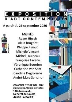 Exposition à La Baule, à partir du 26 septembre 2020 - à la  Concept Store Gallery.