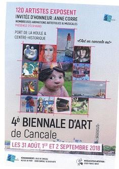 biennale de cancale  du 31 Aout au 2 Septembre 2018