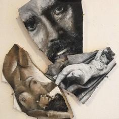Portraits - encre de chine et acrylique sur bois brut