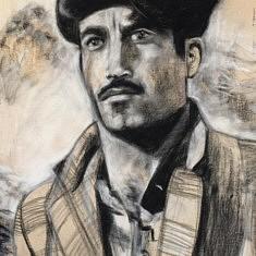 Portrait - encre de chine et acrylique sur toile