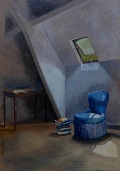 Le fauteuil bleu, hst 92*65 cm