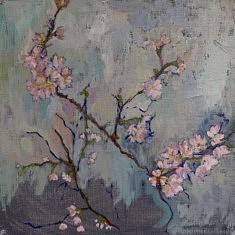 Les petits cerisiers, hst 30*30 cm
