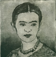 Frida jeune gravure eau-forte, aqua-tinte , pointe sèche 2017