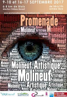 PROMENADE ARTISTIQUE DE MOLINEUF 8 kms de Blois RV à la Mairie (parcours N°1)  Les 9-10, 16 et 17 septembre 2017entre14h-19h  Installation sonore, plâtres, tables lumineuses et photographies