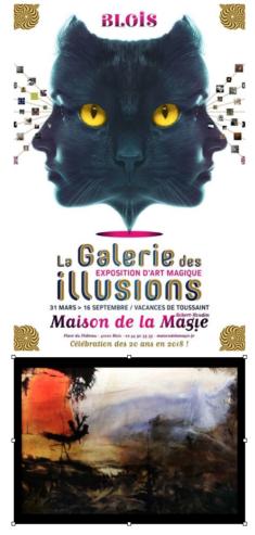 Maison de la Magie Blois Galerie des Illusions Une rencontre singulière entre l'acte plastique et l'intention magique, au service de l'étrange. Parcours réalisé par 50 artistes contemporains. Du 31 mars au 16 septembre 2018 et du 20 octobre au 04 novembre tlj de 10 à 12h30 et 14 à 18h30.