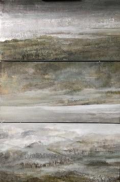 Triptyque horizontal, Technique mixte sur bois 90x60cm