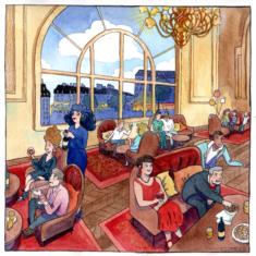 Carapatage au restaurant Le Train Bleu