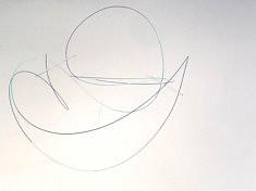 OCEAN   110 X 80 X 85cm  Plexi, corde à piano, encre acrylique