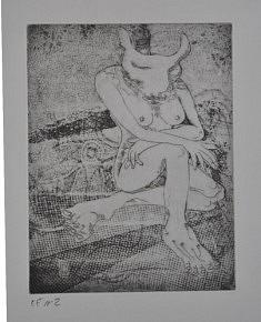 (c) Confais 2012 - La minautore - gravure sur cuivre - 15 x 20 - 35 exemplaires