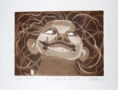 (c) Confais 2012 - La grimace au chocolat - gravure sur cuivre - 15 x 20 - 35 exemplaires