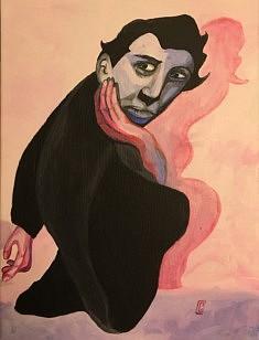 (c) Confais 2018 - Ustinov - Acrylique sur toile - 30 x 40