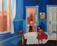 (c) Confais 2017- La Chambre- Acrylique sur Toile - 65x81